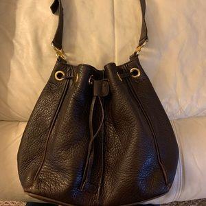 Brown leather hobo - purse - hand bag